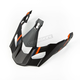 Matte Black/Orange Vanquish Replacement Visor - 3808-000-000-004