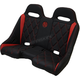 Black/Red Extreme Diamond Stitch Bench Seat - EXBERDBDR