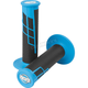 Neon Blue/Black Clamp-On 1/2 Waffle Grips - 021656