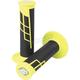 Neon Yellow/Black Clamp-On 1/2 Waffle Grips - 021657