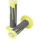 Neon Yellow/Dark Gray Clamp-On Full Diamond Grips - 021686