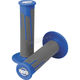 Blue/Dark Gray Clamp-On Full Diamond Grips - 021688