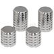 Chrome Grenade Cut Magnetic Docking Station Caps - DSC-FP-CSET