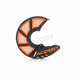 Black/Orange X-Brake 2.0 Vented Front Disc Cover - 2449495229