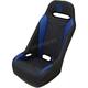 Black/Blue Extreme Double T Stitch Seat - EXBUBLDTR