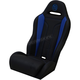 Black/Blue Double T Stitch Performance Seat - PEBUBLDTR