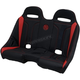 Black/Red Double T Stitch Extreme  Bench Seat - EXBERDDTR