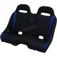 Black/Blue Double T Stitch Extreme Bench Seat - EXBEBLDTR
