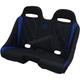 Black/Blue Diamond Stitch Extreme Bench Seat - EXBEBLBDR