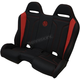 Black/Red Double T Stitch Performance Bench Seat - PEBERDDTR