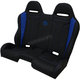 Black/Blue double T Stitch Performance Bench Seat - PEBEBLDTR