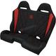 Black/Red Diamond Stitch Performance Bench Seat - PEBERDBDR