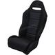 Black Straight Stitch Performance Seat - PEBUBKSTC