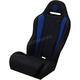 Black/Blue Double T Stitch Performance Seat - PEBUBLDTC