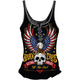 Womens Born Free Eagle Lace-Up Tank Top