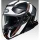 Silver/Black/Red Neotec II Modular TC-6 Helmet