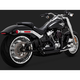 Black Short Shots Staggered Exhaust System - 47235