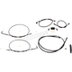 Standard Midnight Stainless Handlebar Cable Kit for Use  w/15 in. - 17 in. Ape Hangers w/ABS - LA-8231KT-16M
