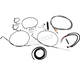 Stainless Steel Complete Handlebar Cable Kit for use w/12