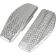Raw Aluminum Rear Bagger Floorboards  - TSC-2205-0