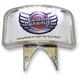 Chrome Radius Illuminated Laydown License Plate Bracket - KPL-301