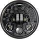 Black Model 8690 5 3/4 in. Round Adaptive 2 LED Headlight - 0555091