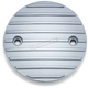 Chrome Finned Timing Cover - 9838