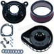 Gloss Black Mini Teardrop Stealth Air Cleaner Kit - 170-0442