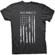 Heather Charcoal Painted Flag T-Shirt