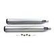Chrome Mufflers w/Black 6 Screw Look End Tips - 30-0753