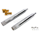 Chrome Mufflers w/Shooter Style End Tips - 30-0754