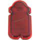 Red Glass Tombstone Taillight Lens - 33-0502