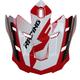 Youth Red/Black/White FX-17 Replacement Holeshot Visor - 0132-1188