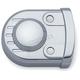 Chrome Legacy Swingarm Pivot Accent - 8783