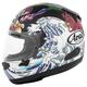Matte White/Black/Purple Quantum-X Oriental Helmet