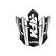 Matte Black/White FX17 Force Replacement Visor - 0132-1171