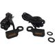 Black Anodized Handlebar Amber LED Marker Lights w/Amber Lens - 2040-2130