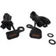 Black Anodized Handlebar Amber LED Marker Lights w/Amber Lens - 2040-2134