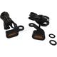 Black Anodized Handlebar Amber LED Marker Lights w/Amber Lens - 2040-2142