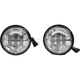Chrome 4 1/2 in. LED High Definition Passing Lamps - HDPL2C