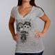 Women's Silver Sugar Couple Burnout T-Shirt