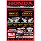 Geico Honda Decal Sheet - 40-10-114