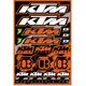 KTM Decal Sheet - 40-30-100