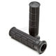 Black Single Density Soft Half Waffle ATV Grips - VLG-576-1 SOFT BLACK