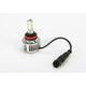 H11 LED High Performance Tri-LED Bulb w/Fan Heatsink - H11F3-B
