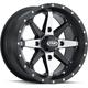 Matte Black Cyclone 14x7 Wheel - 14223067278