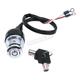Chrome 2 Position Round Key Ignition Switch - 15008