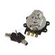 Chrome Skull Fatbob Round Key Ignition Switch - 15017