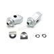 Silver Splined Front Peg Adapters - 8900