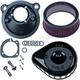 Black Mini Teardrop Stealth Air Cleaner Kit - 170-0440A